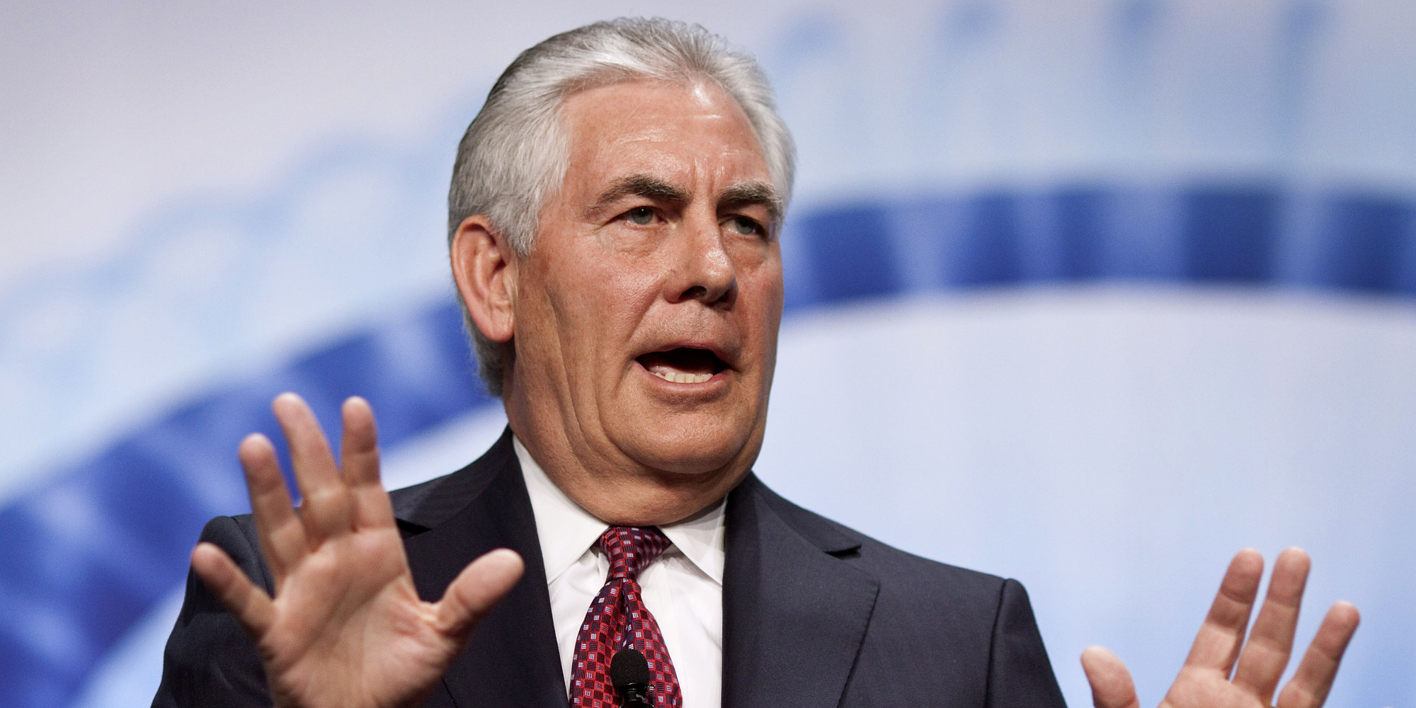 Rex Tillerson, chief executive officer of Exxon Mobile Corp., speaks at the 2012 CERAWEEK conference in Houston, Texas, U.S., on Friday, March 9, 2012. Exxon Mobil Corp. is moving toward the conclusion of an agreement to drill in the Russian Arctic, Tillerson said. Photographer: F. Carter Smith/Bloomberg via Getty Images